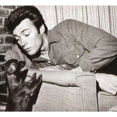 Clint Eastwood and his dachshund