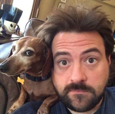 Kevin-Smith and his dachshund