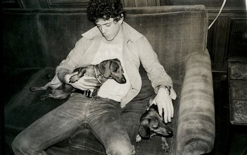 Lou-Reed and his dachshund