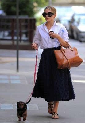 Mary-Kate Olsen and her dachshund