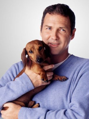 Norm Mcdonald and his dachshund